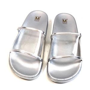 Shoes - Silver Clear Sandal Sildes